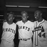 Baseball Players Standing Together Art Print