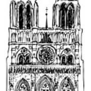 Basilica Notre Dame Art Print