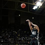 Basketball Player Shooting Jump Shot In Art Print