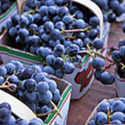 Baskets Of Grapes Art Print