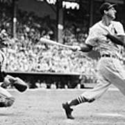 Batter Stan Musial And Catcher Wes Art Print