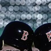 Batting Helmets Art Print