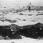 Battlefield At Wounded Knee 1890 Art Print