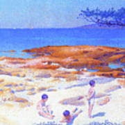 Beach At Cabasson - Digital Remastered Edition Art Print