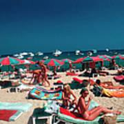 Beach At St. Tropez Art Print