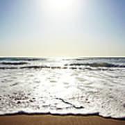 Beach In California On Pacific Ocean Art Print