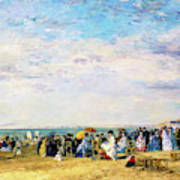 Beach Of Trouville - Digital Remastered Edition Art Print