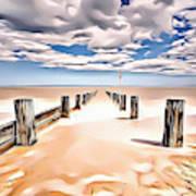 Beach Perpective Art Print