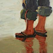 Beach Pose Art Print