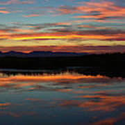 Bear River Sunset Art Print