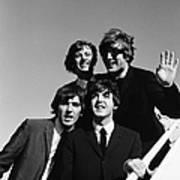 Beatles Arriving At Los Angeles Airport Art Print