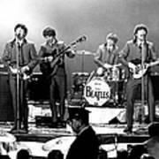 Beatles Perform In Washington, D.c Art Print