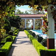 Beautiful Courtyard Getty Villa  Art Print