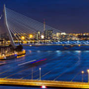 Beautiful Twilight View On The Bridges Art Print