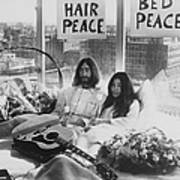 Bed-in For Peace Art Print