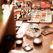 Behind The Scenes, Make-up Art Print