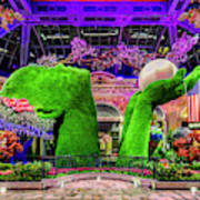 Bellagio Conservatory Spring Display Ultra Wide 2 To 1 Aspect Ratio Art Print