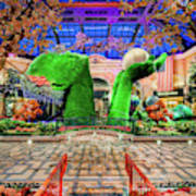 Bellagio Conservatory Spring Display Ultra Wide Trees 2018 Art Print