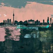 Berlin Abstract Skyline II Art Print