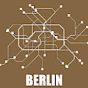 Berlin Subway Map Poster.Berlin Subway Map 2 By Naxart Studio