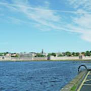 Berwick Upon Tweed, River And City Walls Art Print