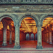 Bethesda Terrace In Central Park - Hdr Art Print