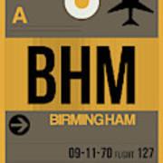 Bhm Birmingham Luggage Tag I Art Print