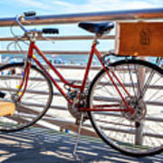 Bicycle At The Beach Art Print
