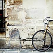 Bicycle, Ile St Louis, Paris Art Print