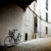 Bicycle Leaning Wall Art Print
