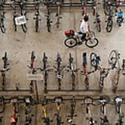 Bicycle Park At Boon Lay Mrt Station Art Print