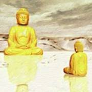 Big Buddha, Little Buddha Art Print