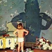 Big Shadow, Little Boy Art Print