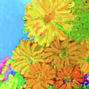 Biggie Flowers Sky Art Print