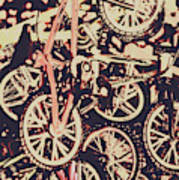 Bike Mountain Art Print