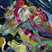 Bild Mit Weissen Linien - Painting With White Lines Art Print
