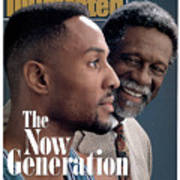 Bill Russell And Charlotte Hornets Alonzo Mourning, 1993 Sports Illustrated Cover Art Print
