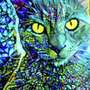 Binx The Stained Glass Cat Art Print