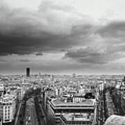 Black And White Aerial View Of An Art Print