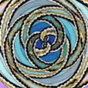 Black And White Fractal Design, Multicolored Background Art Print