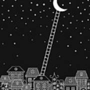 Black And White To The Moon And Back Art Print