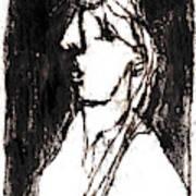Black Side Portrait Art Print