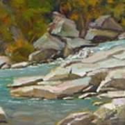 Blindman River, Blackfalds Art Print