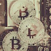 Blocks Of Bitcoin Art Print
