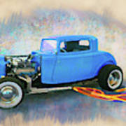Blue 32 Ford Coupe Art Print