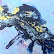Blue Abstract #3 Art Print