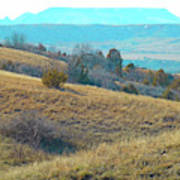Blue Butte Prairie Reverie Art Print