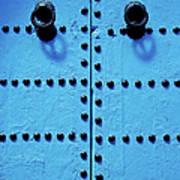 Blue Moroccan Door Art Print