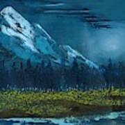Blue Mountain Top Art Print
