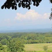 Blue Ridge Mountains And Vineyards Art Print